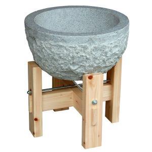 餅つき用 石臼・木製台セット 約3升用 送料無料 miyoshi-ya