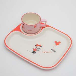ミニー キッズ角プレート 2P バルーン ディズニー ミニーマウス キッズ食器セット 2点セット miyoshi-ya