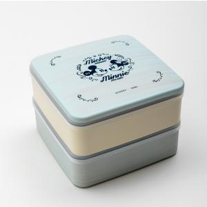 Disney 5.0 M&M ブルー 2段 重箱