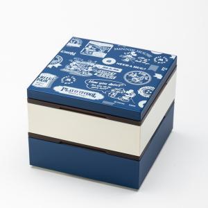 Disney ミッキー BG 4.0 2段 重箱 ブルー