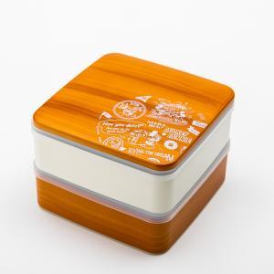 Disney ミッキー BG 5.0 2段 重箱 ライトブラウン