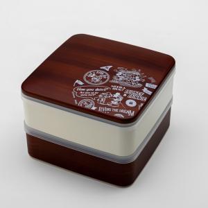 Disney ミッキー BG 5.0 2段 重箱 ダークブラウン