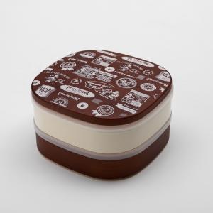 Disney ミッキー BG 2段 オードブル 重箱 ダークブラウン