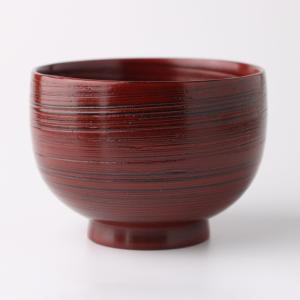 天然木製 お子様小椀 刷毛目 根来 漆塗り miyoshi-ya