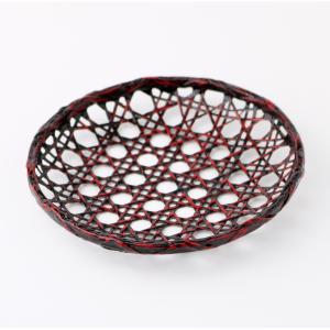 竹製 4寸 籃胎 茶托 漆塗り 12.5cm miyoshi-ya