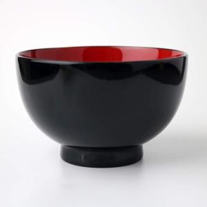 天然木製 汁椀 黒内朱 漆塗り miyoshi-ya