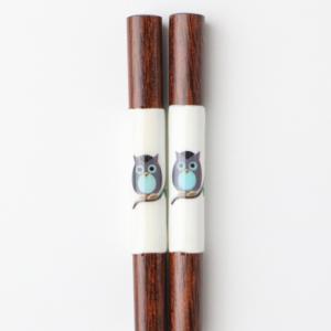 天然木製 フクロウ箸 21cm miyoshi-ya