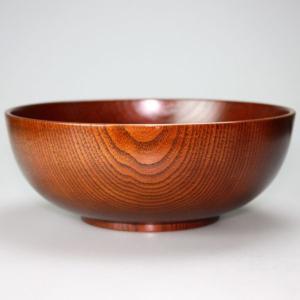 天然木製 うどん椀 木目 漆塗り 22cm|miyoshi-ya
