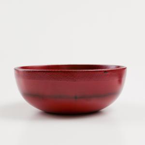 天然木製 どんぶり鉢 根来 漆塗り|miyoshi-ya