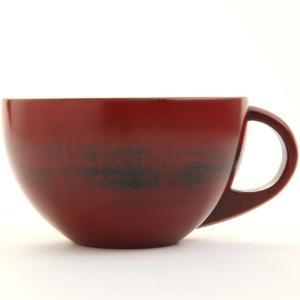 天然木製 スープカップボール(大) 根来 漆塗り|miyoshi-ya