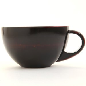 天然木製 スープカップボール(大) 曙 漆塗り|miyoshi-ya