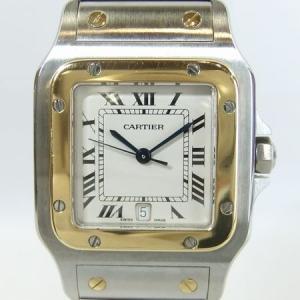 「質屋出店」「当店保証1年付」カルティエ サントスガルベLM(旧ブレス) 187901 メンズ 時計「中古」