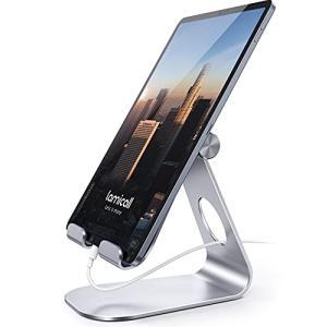 タブレット スタンド ホルダー 角度調整可能, Lomicall iPad用 stand : 卓上縦...