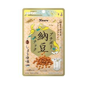 プチポリ納豆 しょうゆ味 素材菓子【カンロ】6袋入り1BOX|mizota