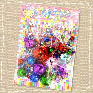 お祭り・催事・イベントに!鈴のくじ引き 100付 大小いろいろな鈴が当たります。 mizota