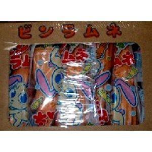 ビンラムネ 20入 モナカの皮の中にある粉末のラムネをストローで吸って食べる駄菓子です。