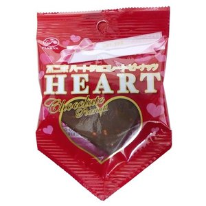 不二家 ハートピーナツチョコ期間限定特価 ハートチョコレート(ピーナッツ)【不二家】10枚入り1BOX バレンタイン mizota