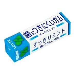 歯につきにくいガム フリーゾーンガム すっきりミント 15本入り1BOX ロッテ|mizota