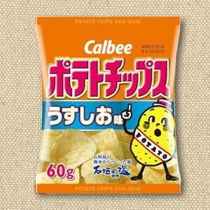 ポテトチップス うすしお味 60g【カルビー】12袋入り×4BOX 大量販売 mizota