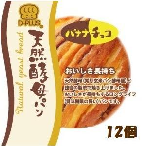 天然酵母パン バナナチョコ【デイプラス】12個|mizota