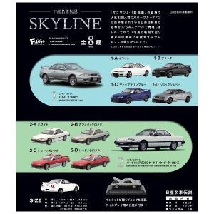 日産名車伝説 SKYLINE スカイライン 1/64スケール 10個入1BOX エフトイズ 2021年3月22日発売予定|mizota
