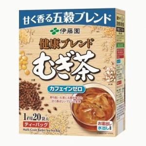 伊藤園 健康ブレンド むぎ茶 ティーバッグ (8.5g×20袋入)×1箱 カフェインゼロ|mizota