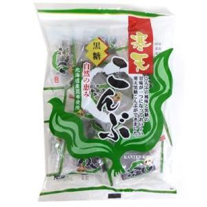 寒天黒糖こんぶ 155g×1袋 北海道産昆布を使用 金城製菓|mizota
