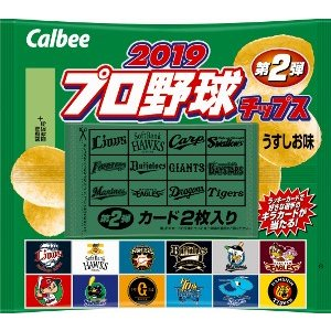 プロ野球チップス2019 第2弾 24袋入り6BOX(144袋)カルビー|mizota