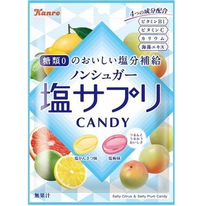 カンロ ノンシュガー塩サプリキャンディ 70g×6袋 ノンシュガー塩飴 熱中症対策に|mizota
