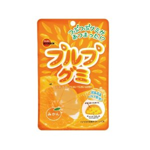ブルボン プルプグミ みかん 55g×1BOX(10袋) ぷるぷるパルプ食感|mizota
