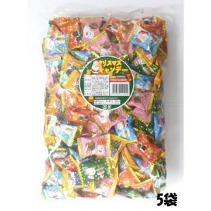 川口製菓 大量5kg クリスマスキャンデー 5キロ 徳用袋 卸特売(約190粒前後入X5袋)