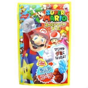 スーパーマリオグミ ラムネ&コーラ 45g×6袋 【ノーベル製菓】|mizota