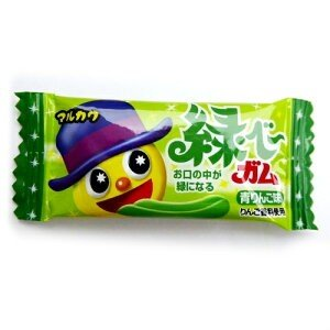 マルカワ緑べ〜ガム 青りんご味 10円50個入り1BOX|mizota
