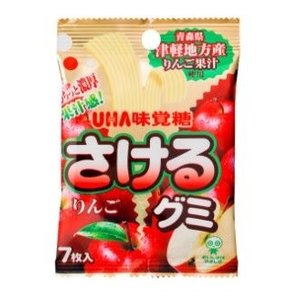 さけるグミ りんご UHA味覚糖 10個入り6BOX(60個) 青森県津軽地方産りんご果汁使用|mizota