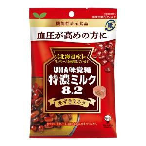 特濃ミルク8.2 あずきみるく 93g×6袋 UHA味覚糖 血圧が高めの方に 機能性表示食品|mizota