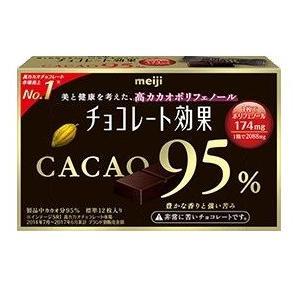 明治 チョコレート効果 CACAO95% 標準12枚入り 5個入1BOX|mizota