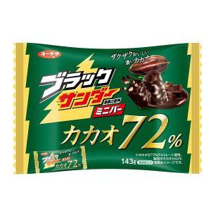 有楽製菓 ブラックサンダー ミニバー カカオ72% 155g×24袋ファミリーサイズミニ【夏季クール便配送(別途220円〜)】|mizota
