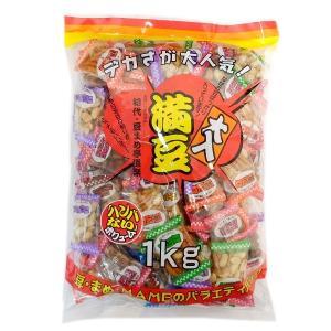 大入満豆 1kg×48袋 豆菓子アソート 大量48キロ 徳用サイズ バー・クラブ・端玉・催事・イベントに mizota