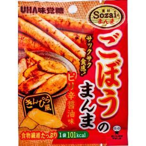 Sozaiのまんま ごぼうのまんま ピリ辛醤油味 20g×6袋 1BOX UHA味覚糖 甘辛なごぼうスナック|mizota