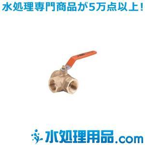 キッツ 青銅・黄銅バルブ Tボール(三方) TN型 1/2インチ(15A) TN-1/2|mizu-syori