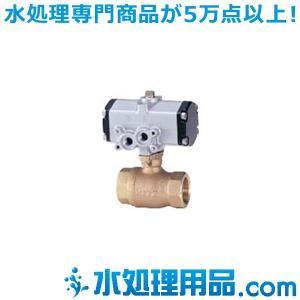 キッツ 空気圧バルブ 青銅製ボールバルブ C-TE型 複作動 1インチ(25A) C-TE-1|mizu-syori