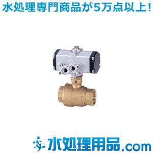 キッツ 空気圧バルブ 銅合金製ボールバルブ C-TFE型 複作動 1インチ(25A) C-TFE-1|mizu-syori