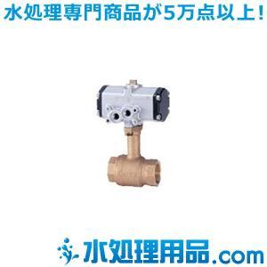キッツ 空気圧バルブ 青銅製ボールバルブ C-TLE型 複作動 1.5インチ(40A) C-TLE-1.5|mizu-syori