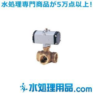 キッツ 空気圧バルブ 青銅製ボールバルブ(三方) C-TNE型 複作動 3/8インチ(10A) C-TNE-3/8|mizu-syori