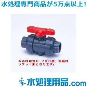 旭有機材工業 ボールバルブ21型  C-PVC製 ソケット形 50A V21LVCESJ050|mizu-syori