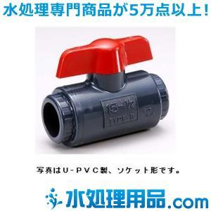 旭有機材工業 コンパクトボールバルブ U-PVC製 13A VCBLVUENJ013|mizu-syori