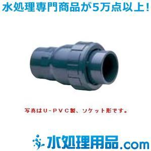 旭有機材工業 ボールチェックバルブ U-PVC製 ソケット形 40A VBCZZUESJ040|mizu-syori