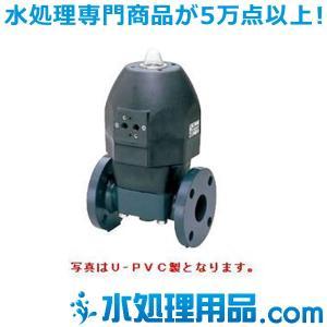 旭有機材工業 ダイヤフラムバルブ14型 エア式AN型(逆作動) U-PVC製 50A A14NGUEF1050|mizu-syori
