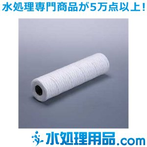 糸巻きフィルター 250mm コットン+SUS304 0.5ミクロン SWCS0.5-250|mizu-syori