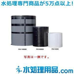 スイコータンク MHタンク 開放丸型 汎用タイプ MH-1000 ふた付き 黒色|mizu-syori